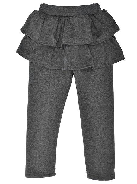 Welen - Leggings con forro polar para bebés y niñas con faldas ...