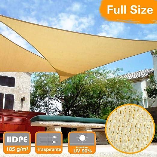 GOUDU Toldo Vela de Sombra Rectangular Toldos IKEA Prevención Rayos UV Solar protección para Exteriores Patio, el jardín, protección UV - Beige 2x2m: Amazon.es: Jardín