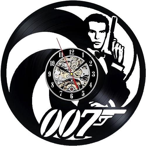 Gullei.com Vinyl Wall Clock 007 James Bond Design Home Decor Gift