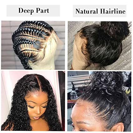 Amazon.com : Short Curly Full Lace Wigs 150% Density Human Hair Wigs Pre Plucked with Baby Hair Brazilian Virgin Hair Full Lace Bob Wig 8 Inch : Beauty