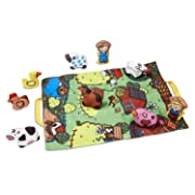 Melissa & Doug Take-Along Farm Baby and Toddler Play Mat (19.25 x 14.5 inches) With 9 Animals - Folds To Be Convenient Storage Bag for Travel