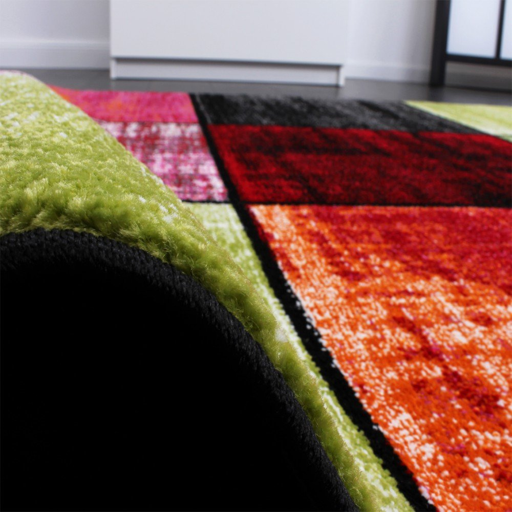 Paco Home Teppich Kinderzimmer Karo Kinderteppich Mehrfarbig Mehrfarbig Mehrfarbig Meliert Rot Pink Grün Blau, Grösse 230x320 cm 340f25