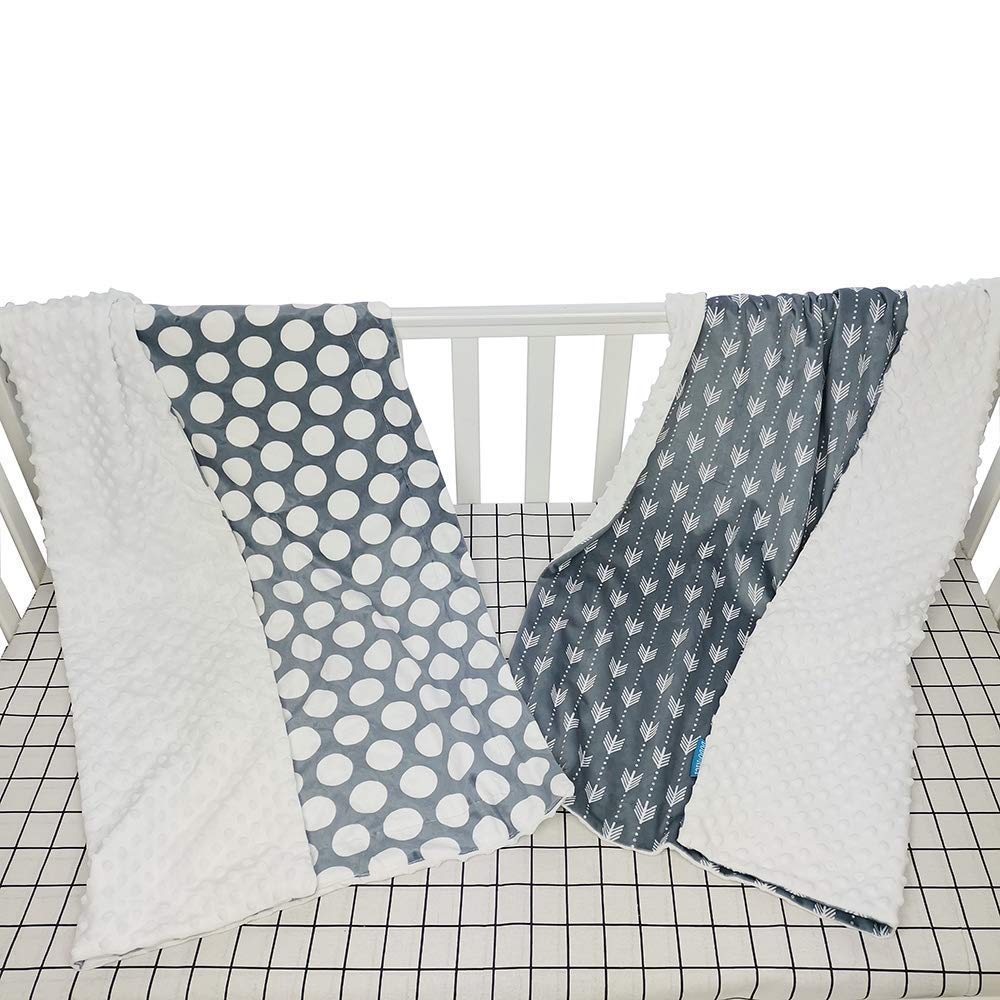 1 pcs Shopping cart Cover and 2 Pack Crib Blanket