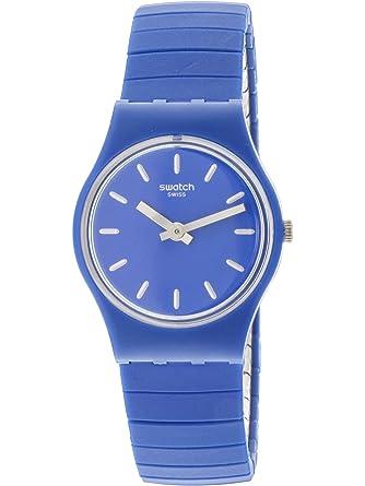 Swatch Reloj Analogico para Mujer de Cuarzo con Correa en Acero Inoxidable LN155A: Amazon.es: Relojes