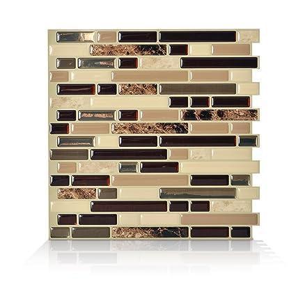 Amazon.com: Smart Tiles Peel and Stick Backsplash and Wall Tile ...