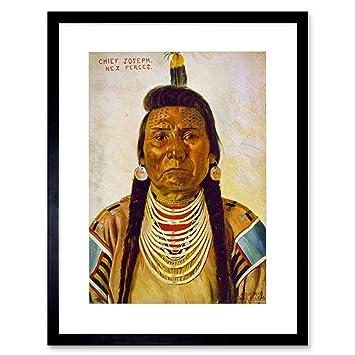 PAINTING PORTRAIT STUDY WOOD AMERICAN GOTHIC BLACK FRAMED ART PRINT B12X3687