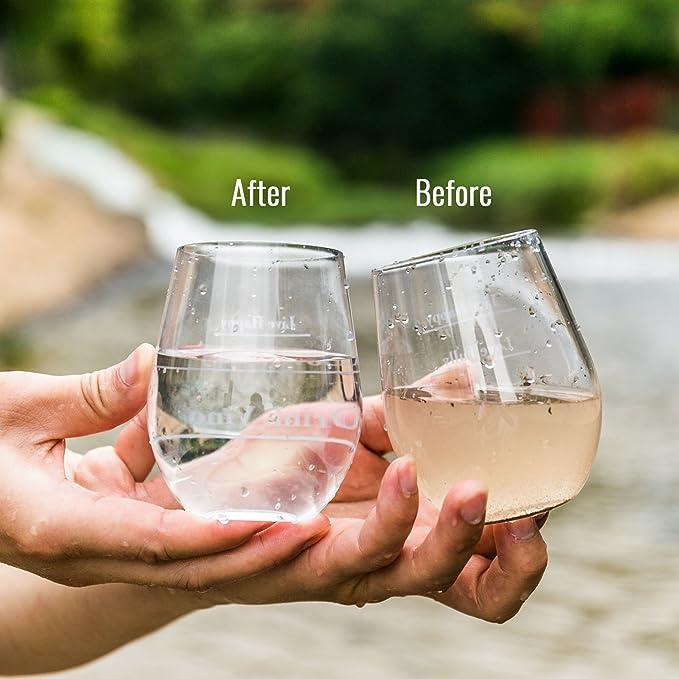 RoryTory - Juego de 5 filtros de agua de paja de supervivencia, para camping, hidratación, purificador de agua de ...