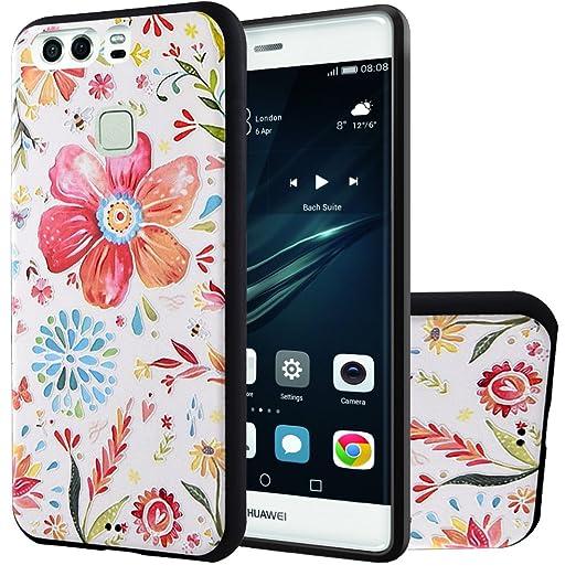 13 opinioni per MOONCASE Huawei P9 Custodia, [Spring Fiore] Creative 3D morbida TPU Custodia per