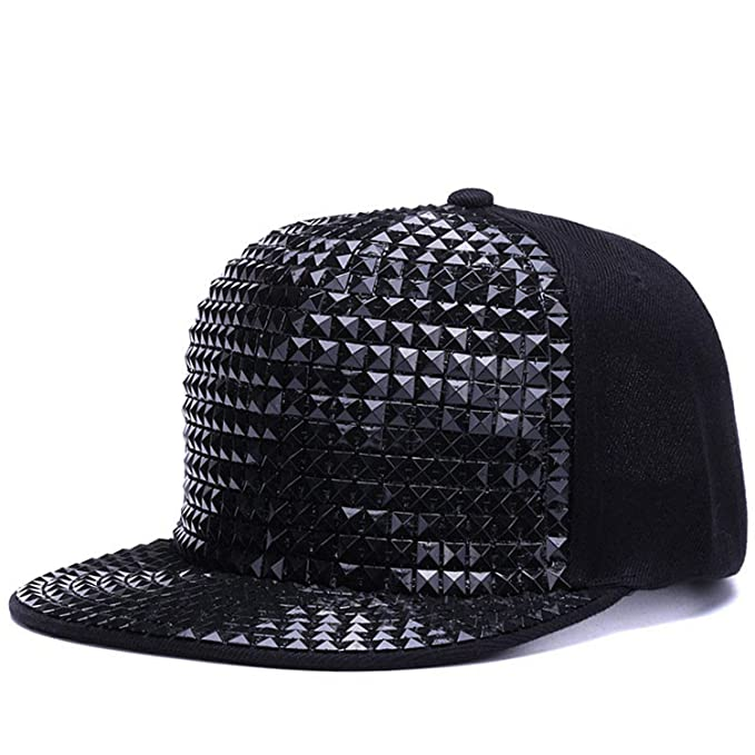 Image Unavailable. Image not available for. Color  FUZE Baseball Caps Flat  Brim Outdoor Hats Girls Boy Bling Snapback Cap Hip Hop ... 92e65b68e879
