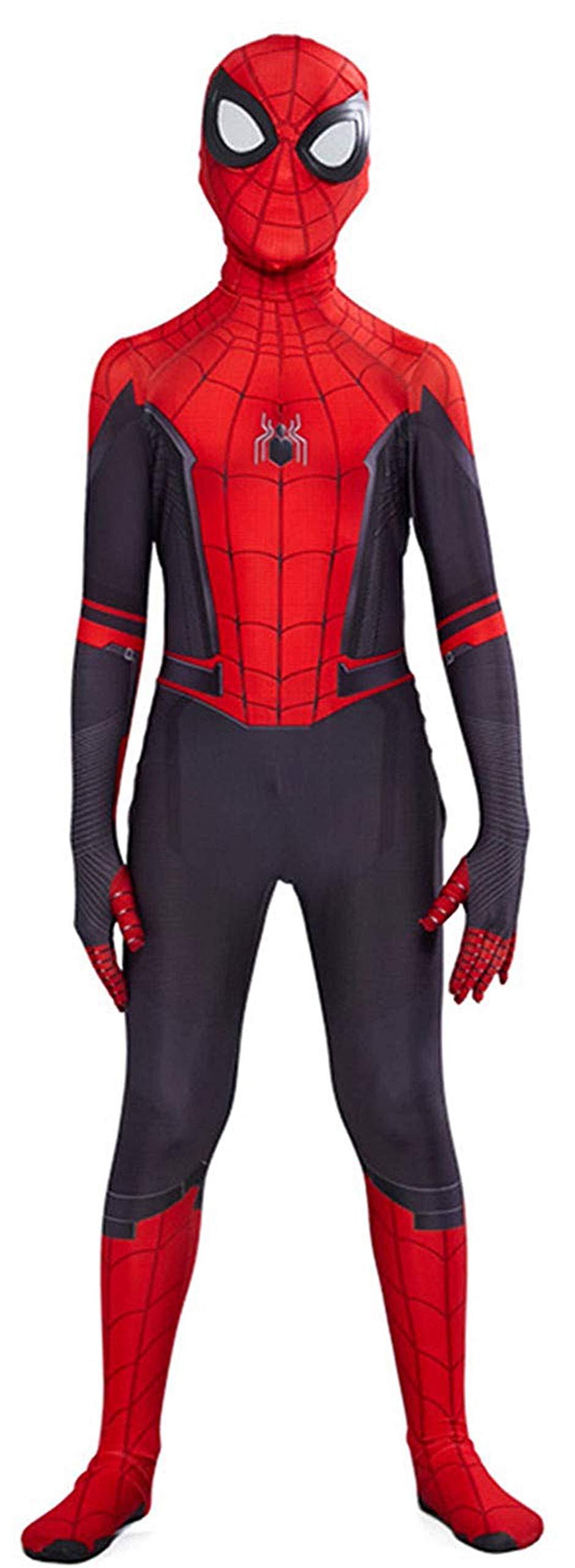 Ugoccam Superhero Kids Bodysuit Boys Zentai Suit Cosplay Jumpsuit Red