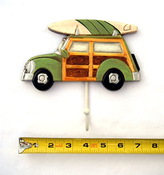 3 Woody con tabla de surf toalla ganchos por Beachcombers: Amazon.es: Hogar