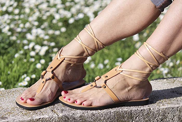 e174d4e8a727 Amazon.com  Tie Up Gladiator Sandals