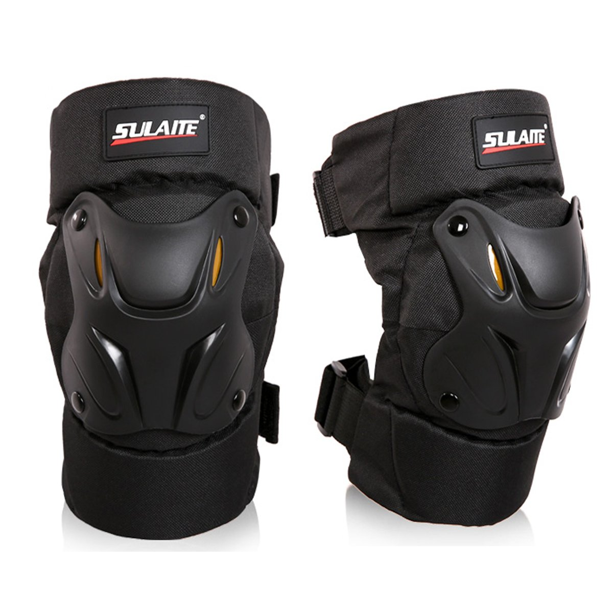 GuTe Knee Pads Guard Gear Protective for Motorcycle Mountain Biking Bicycle -1 Pair by GLEIM (Image #1)
