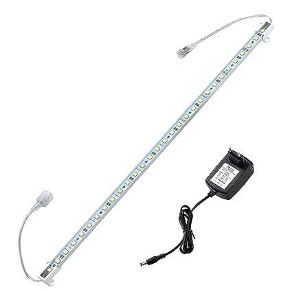 in.tec ® 50cm Alu LED Lichtleiste Warmweiß Unterbauleuchte Leiste SMD