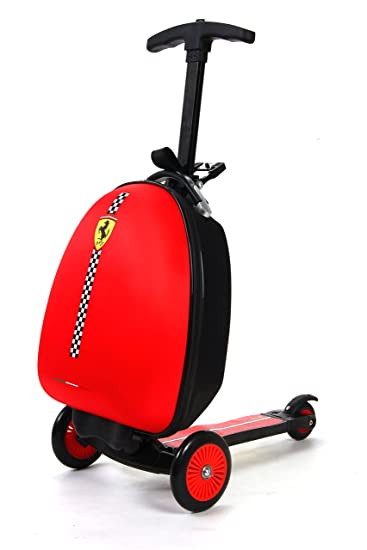 Amazon.com : Ferrari Kids Scooter Luggage, Red : Sports & Outdoors