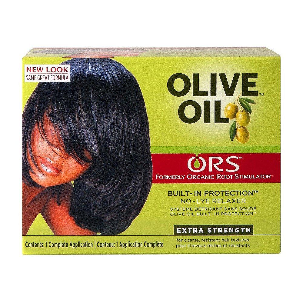 Organic Root Stimulator - Relajante para cabellos, crema de alisado, con aceite de oliva, protección integrada, sin lejía, extrafuerte protección integrada sin lejía ORS