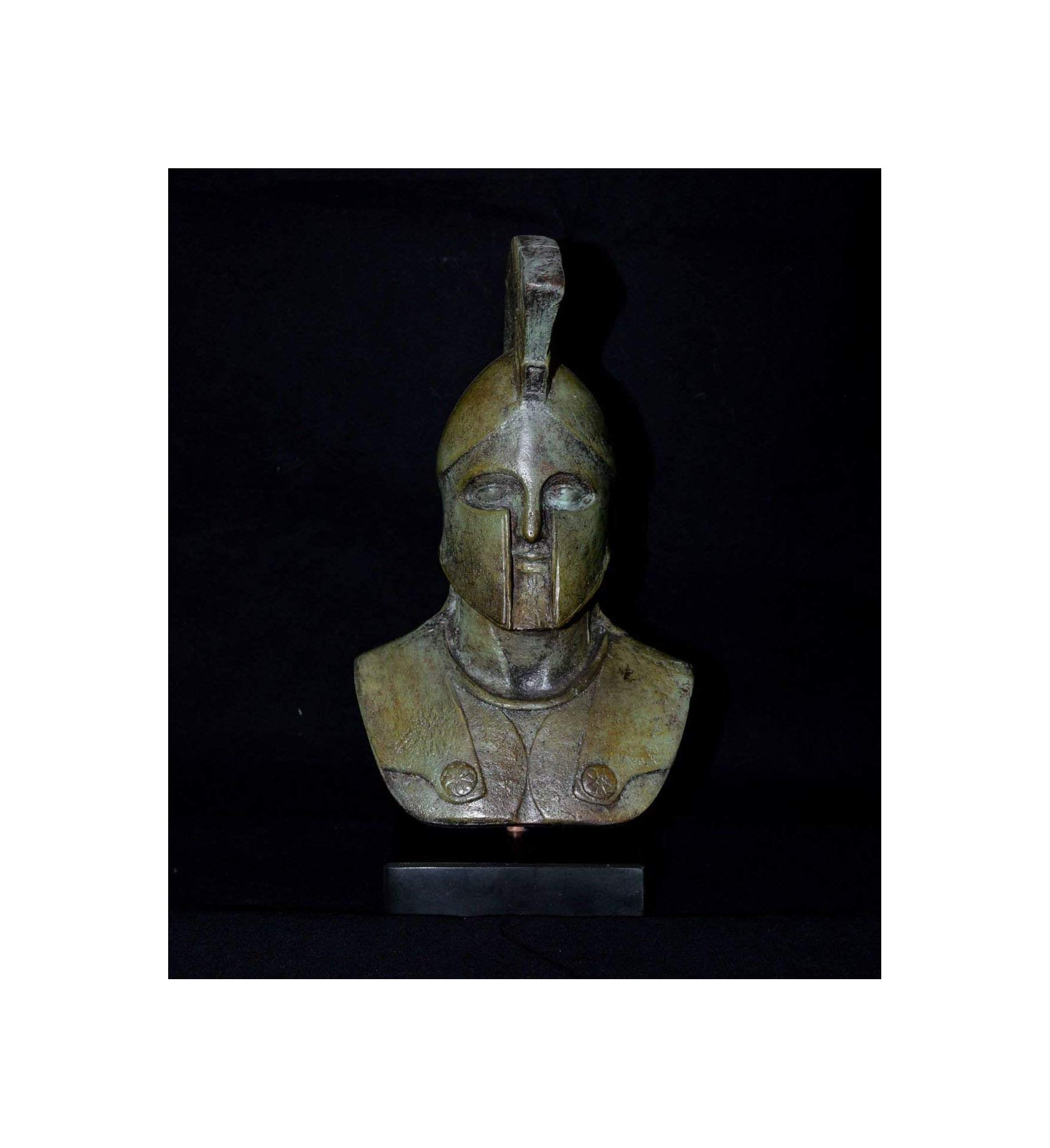 Talos Artifacts Leonidas King Of Spartans Bronze Bust - Battle of Thermopylae - Lost Wax Cast