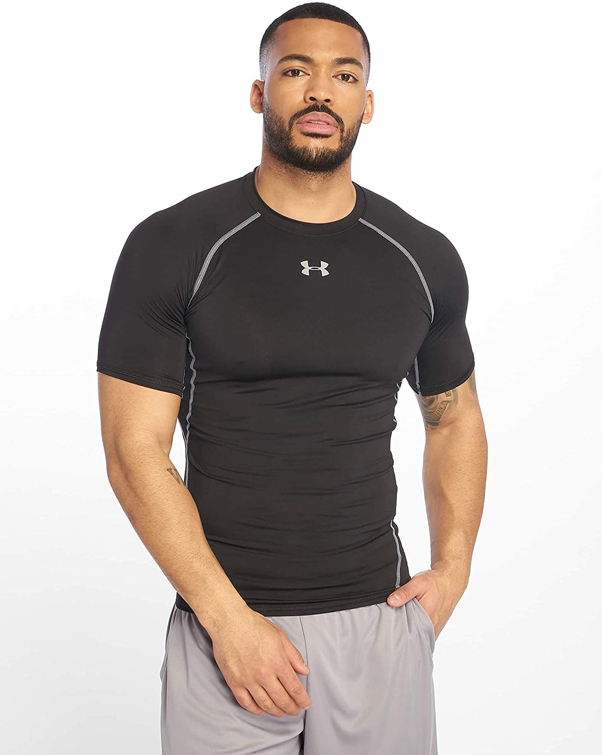 Sports Mens Hot V-neck Tight T-shirt Short Sleeve Fast-dry Fitness Tank Top DS