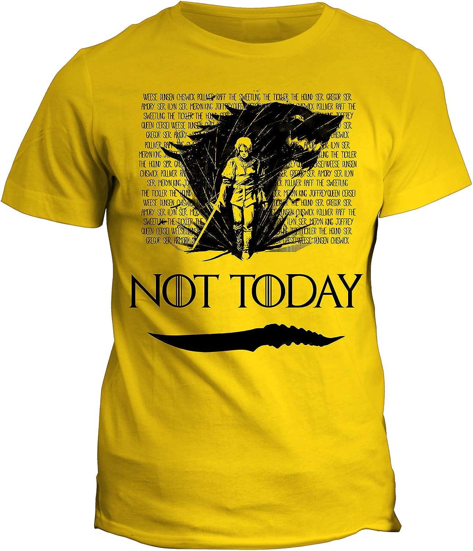 Season 8 Got 8 Serie TV Not Today Tshirt Game of Thrones Arya Stark Il Trono di Spade