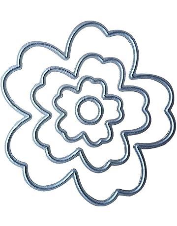 4piezas troqueles de corte con diseño de flores, para DIY,