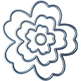 4piezas troqueles de corte con diseño de flores, para DIY, decoración, de metal