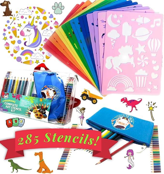 Rainbow Unicorn Kids Art Craft Reusable Stencil Decor Size A5 4 3 2 1 //165