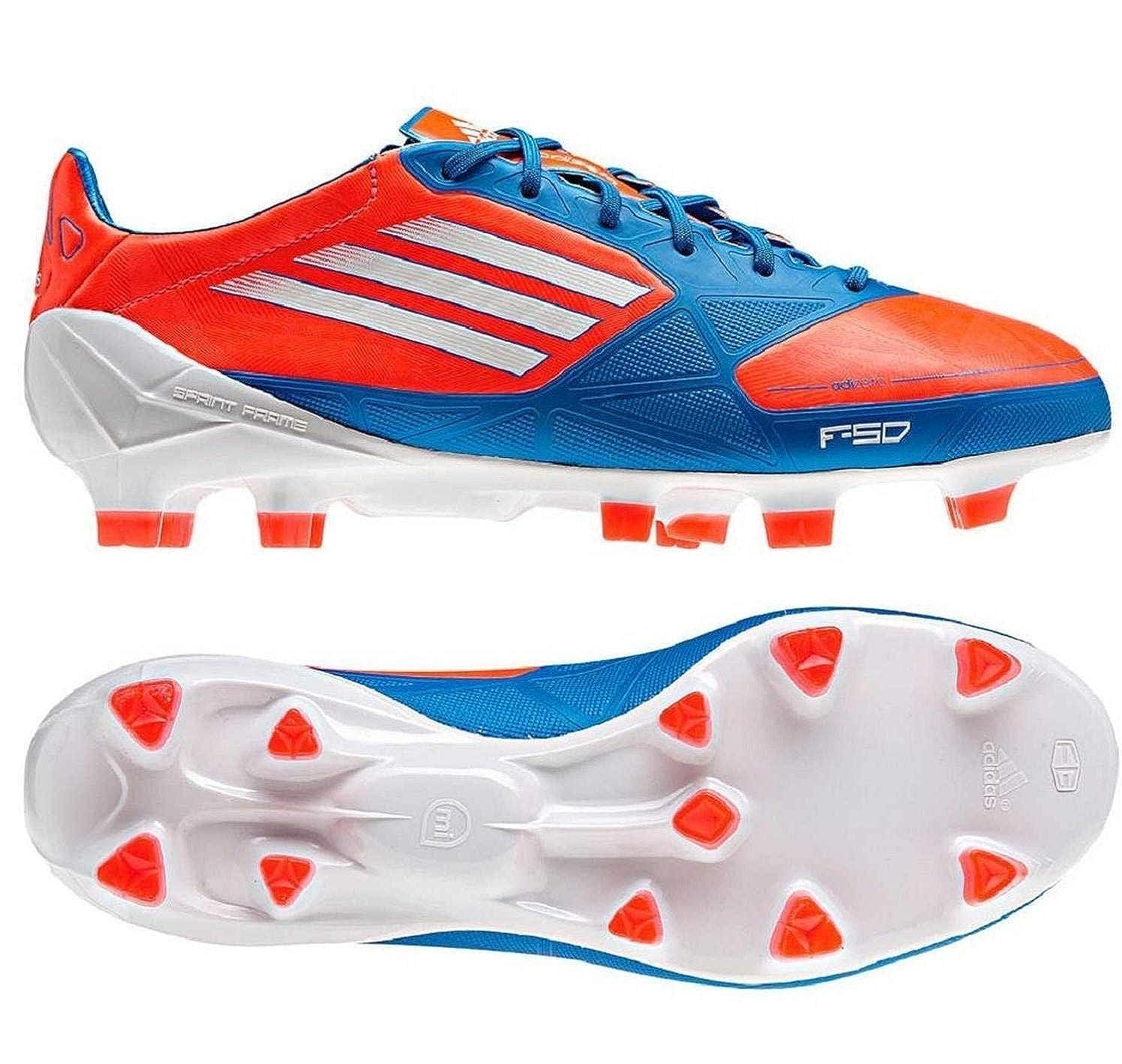 Size 4.5 adidas Unisex F50 Adizero TRX FG J Synthetic Soccer Cleats Blue//Infrared