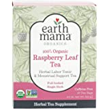 Earth Mama Organic Raspberry Leaf Tea Bags for Labor Tonic and Menstrual Support, 16 Count