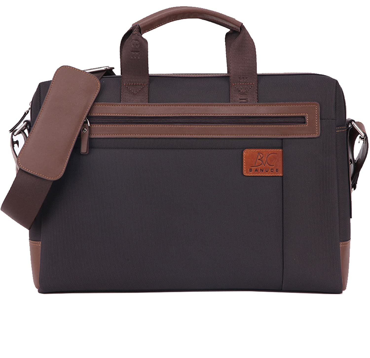 "Banuce RTXCXBM032-BK Men's Waterproof PU Leather Briefcase Shoulder Bags Attaches 14"" Laptop 60%OFF"