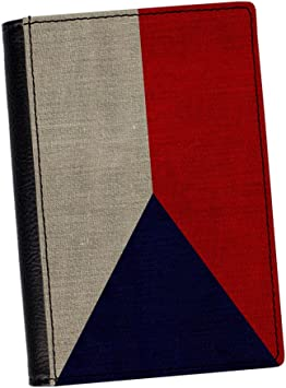 0046 République Tchèque Drapeau Design Imprimé Cuir Pu passeport Case Cover Holder