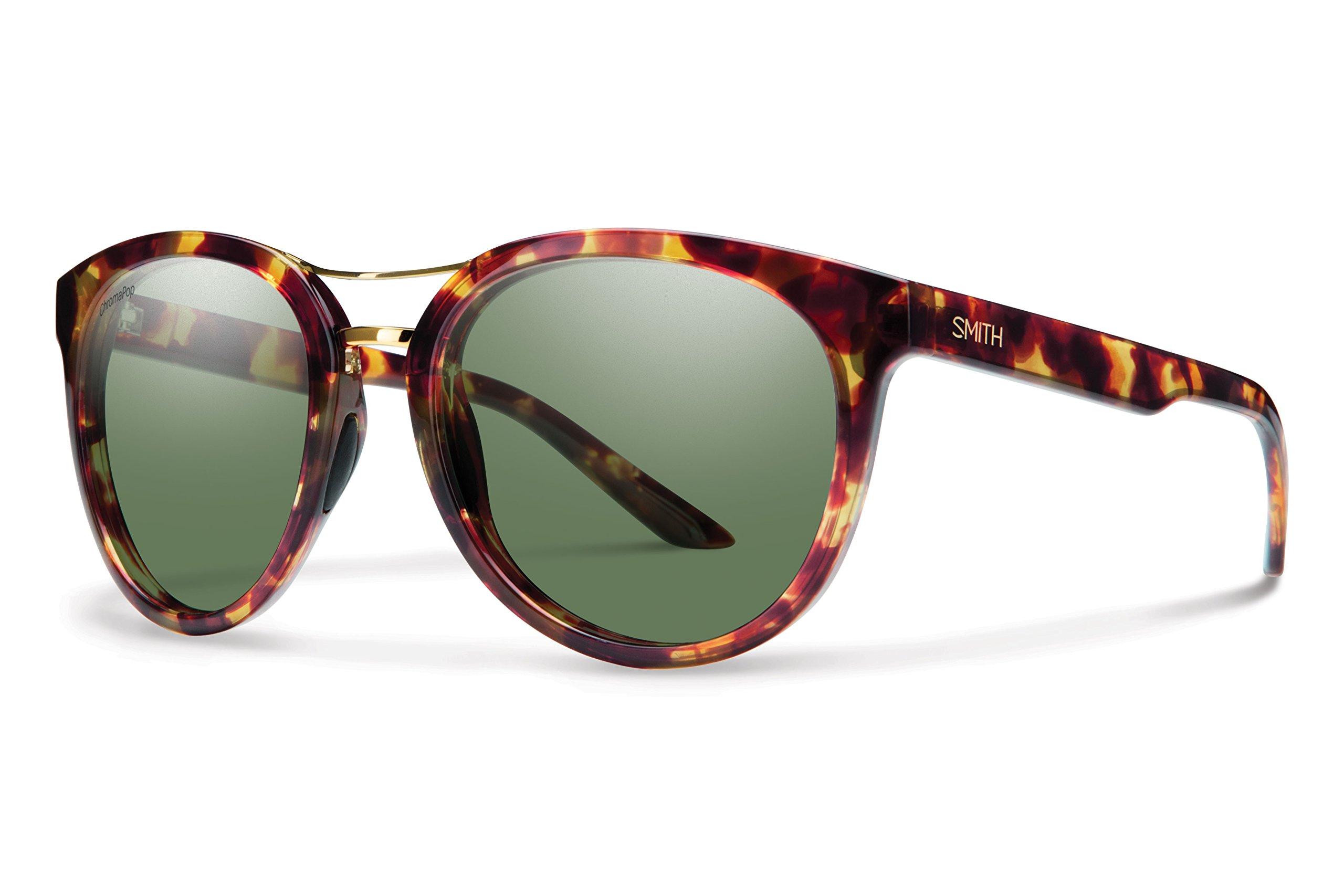 Smith Optics Bridgetown Chromapop Polarized Sunglasses, Tortoise, Gray green