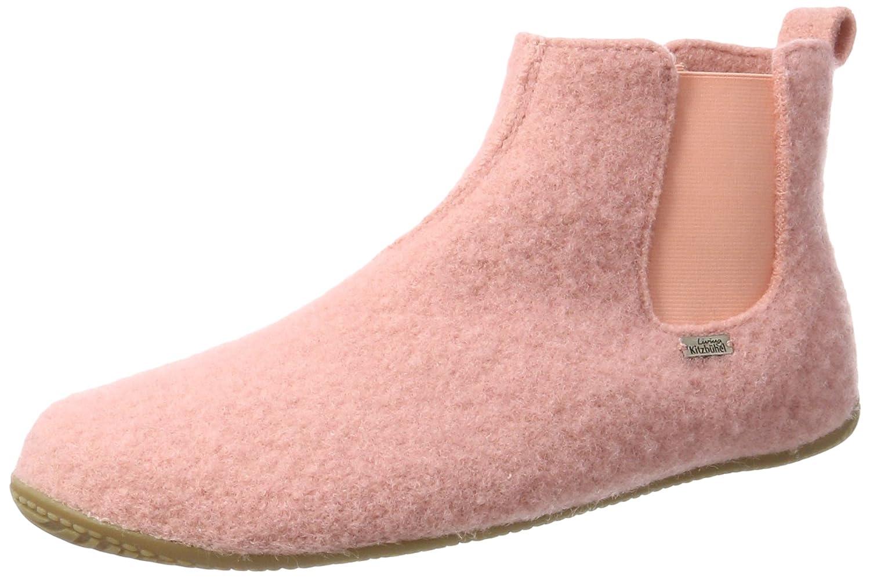 Living Kitzbühel Unisex-Erwachsene Chelsea Stiefel Unifarben Hohe Hausschuhe  Pink (Ash Rose 336)