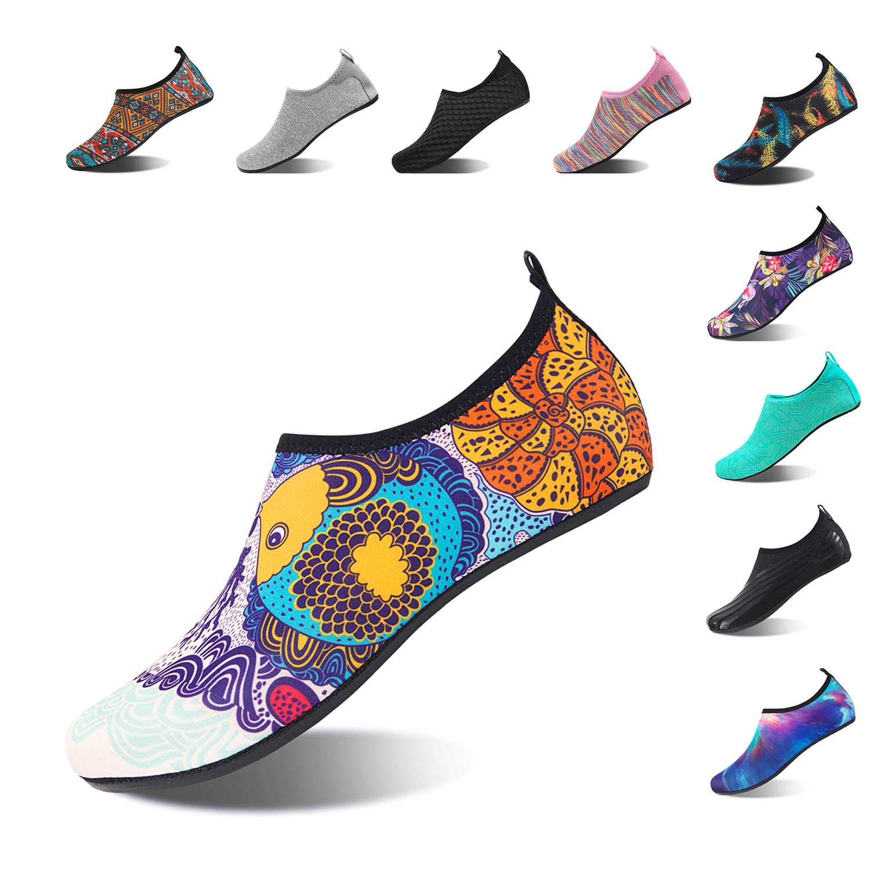 NING MENG Aqua Socks Beach Water Shoes Barefoot Yoga Socks Quick-Dry Surf Swim Shoes for Women Men (Fish, 38/39EU)