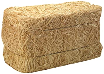 Amazoncom Floracraft Decorative Straw Bale 12 Inch X 12 Inch X 24