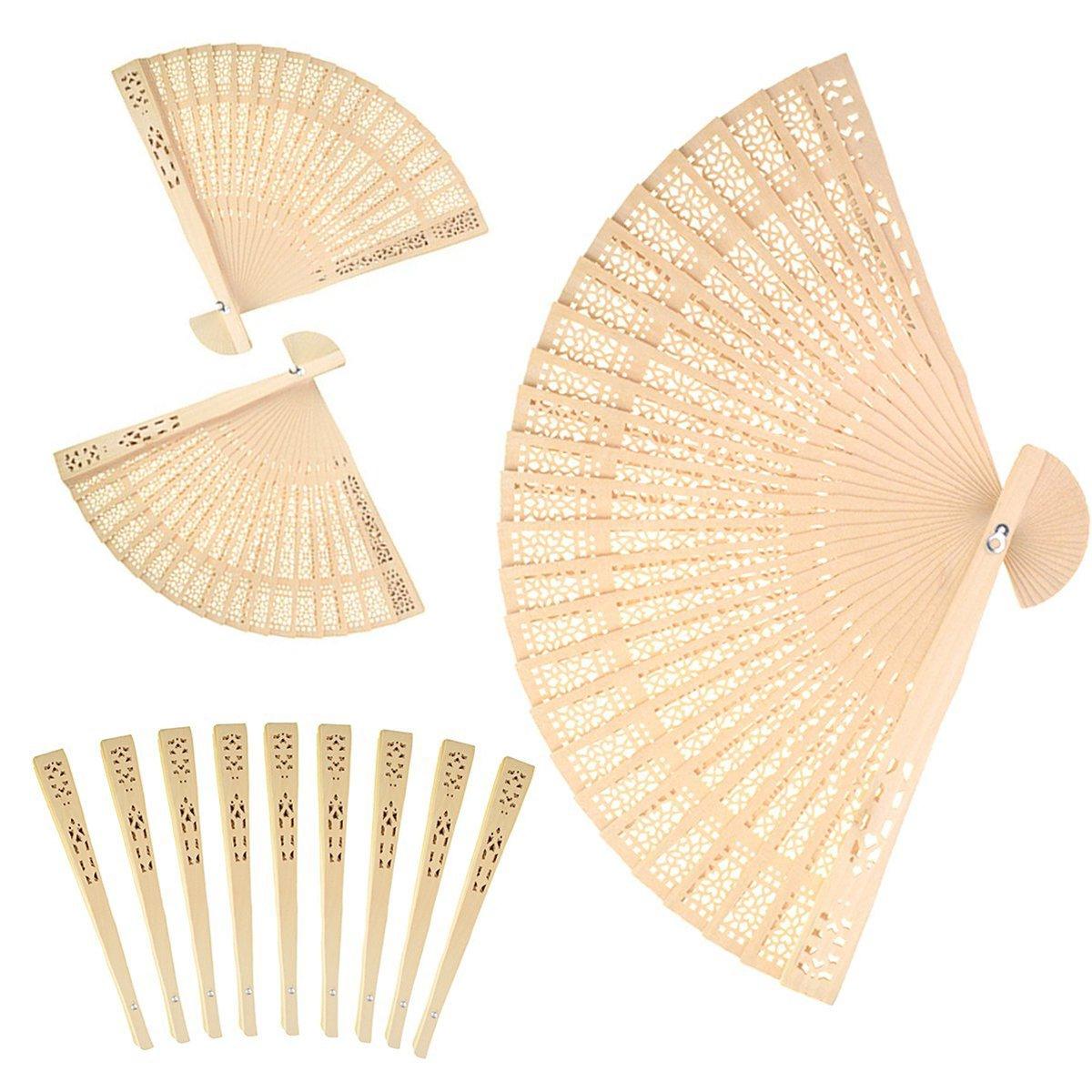 Aeroway Sandalwood Fan (Set of 48 pcs) - Baby Shower Gifts & Wedding