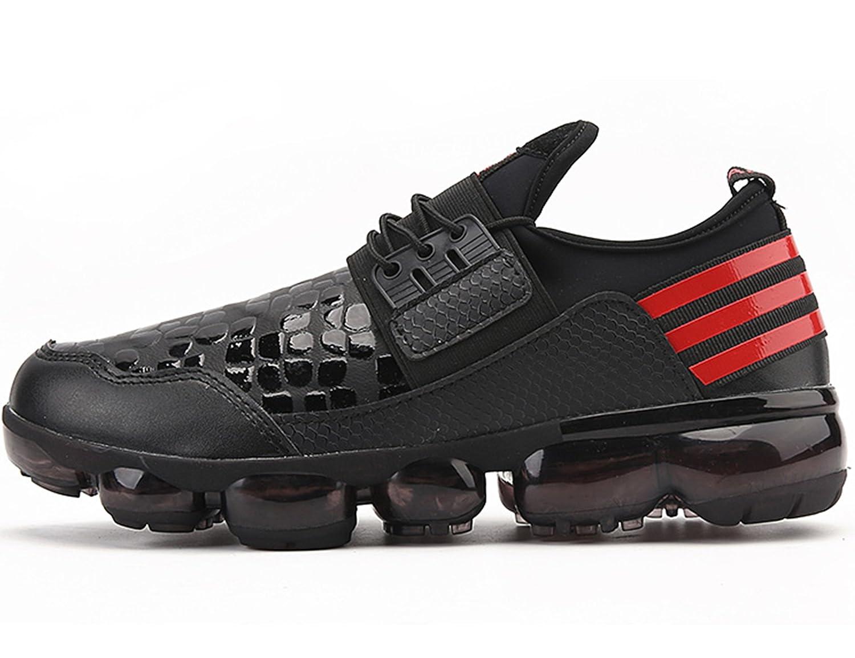 ONEAIRR Air Zapatillas de Running para Hombre Zapatos para Correr y Asfalto Aire Libre y Deportes Calzado 41 EU|D126 Rlack rojo