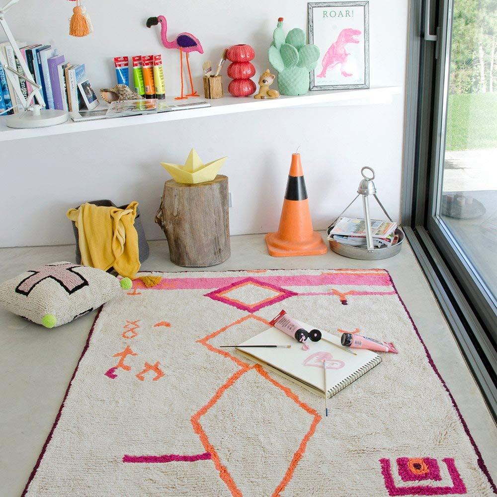Lorena Canals Saffi Lavable Tapis, Coton, Multicolore, 140x 200x 30cm