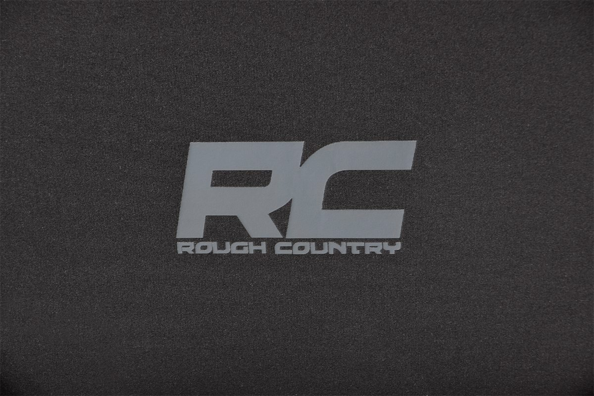 Rough Country 91006 Black Neoprene Seat Cover for Jeep 11-12 Wrangler JK 2-Door Front//Rear