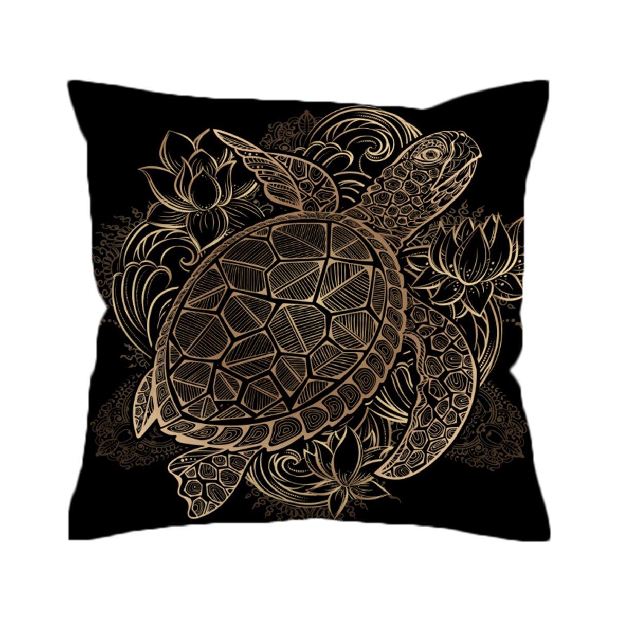 Amazoncom Sleepwish Cushion Cover 18 X 18 Black And Gold
