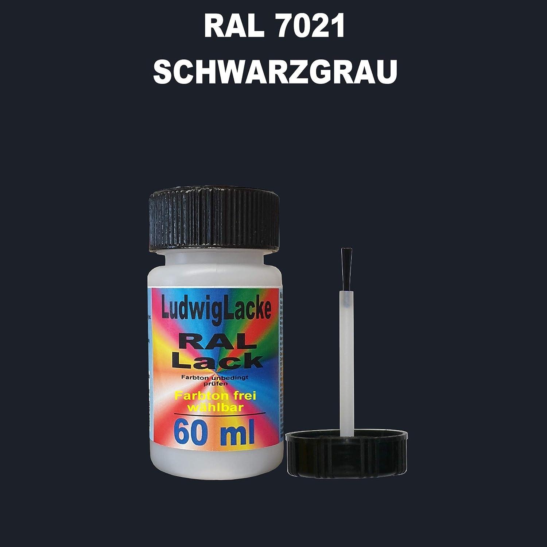 60 Ml Lackstift Mit Pinsel Im Farbton Ral 7021 Schwarzgrau Auto