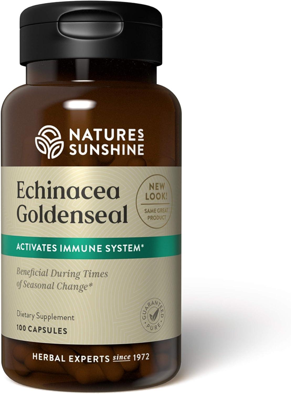 Nature's Sunshine Echinacea and Golden Seal 100 Capsules