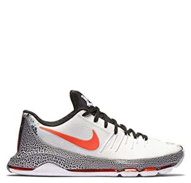 Nike Kid's KD 8 XMas (GS), White/Black - Bright Crimson,