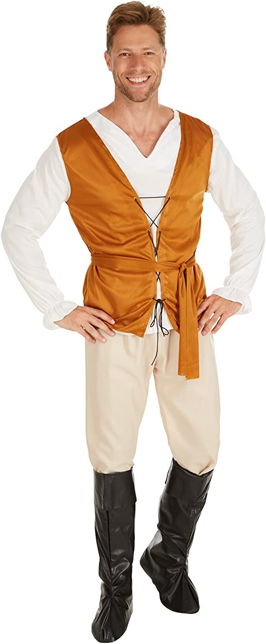 TecTake dressforfun Disfraz de Campesino de la Edad Media para ...