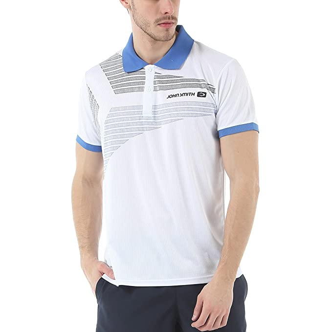 JOHN SMITH Polo Deporte BARDOLIN Blanco Poliester - XXL: Amazon.es ...