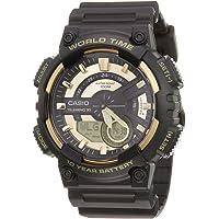 Casio Watch For Men Ana-Digi Dial Resin Band - AEQ-110BW-9AV