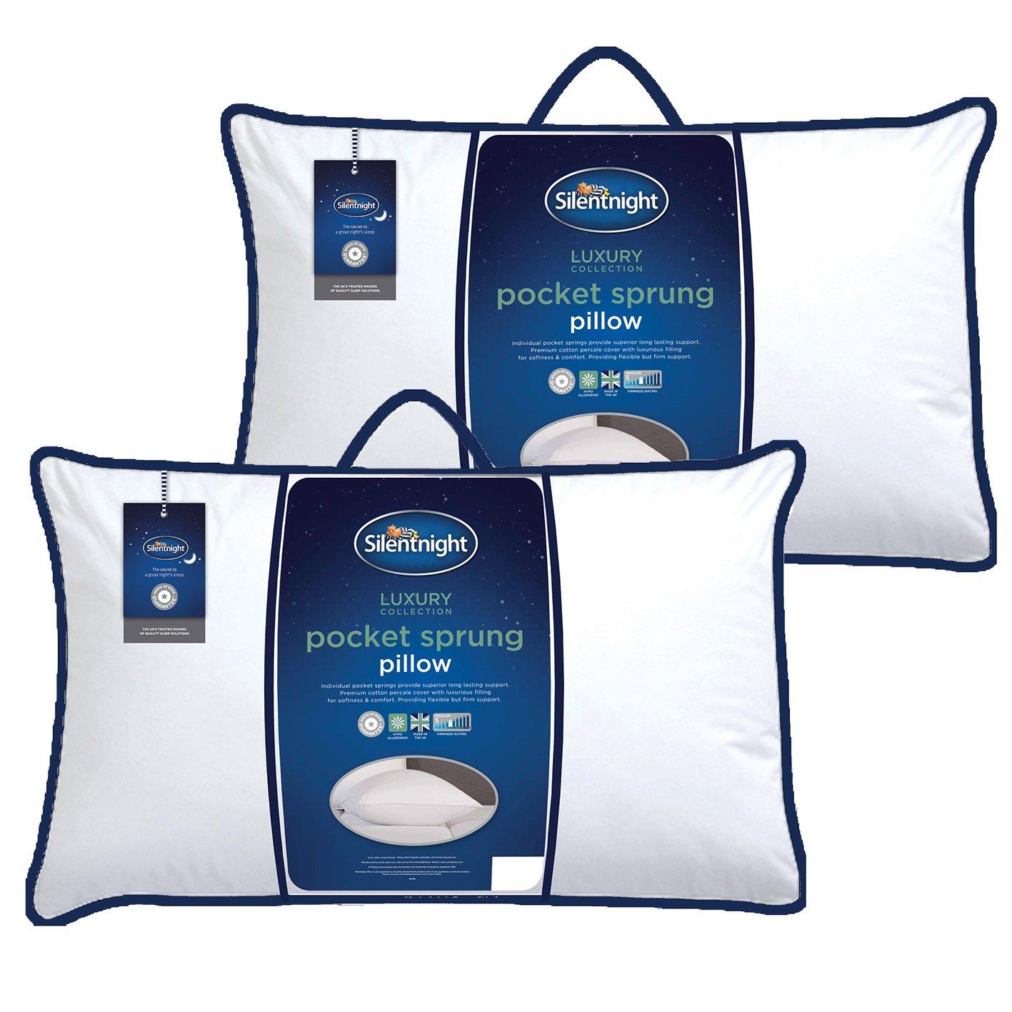 Silentnight Luxury Pocket Sprung Pillow - Pack of 2