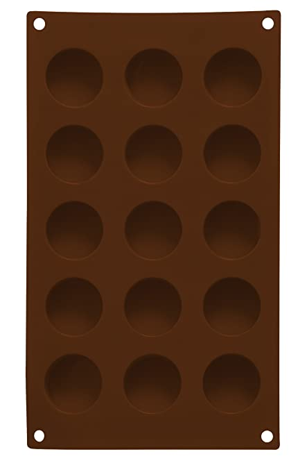 premier housewares 15 round chocolate mould tray brown