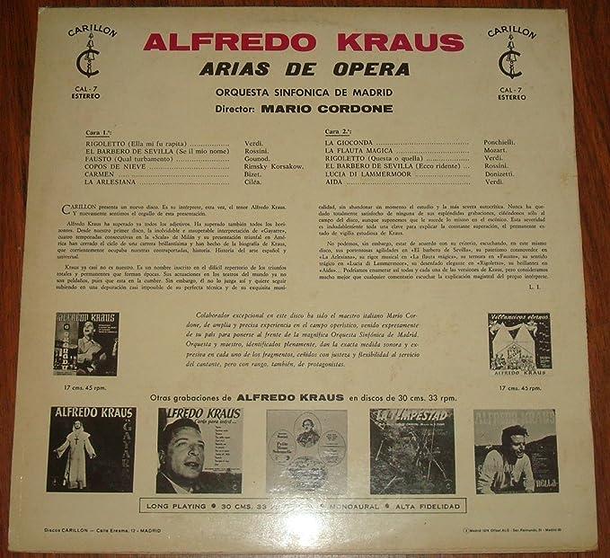 Amazon.com: Alfredo Kraus Arias De Operas Orquesta Sinfonica ...