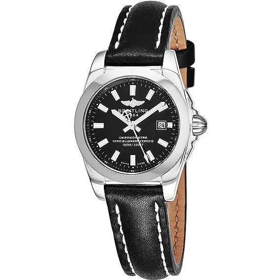 Breitling Galactic Reloj de mujer cuarzo 29mm correa de cuero W7234812/BE49LS: Amazon.es: Relojes