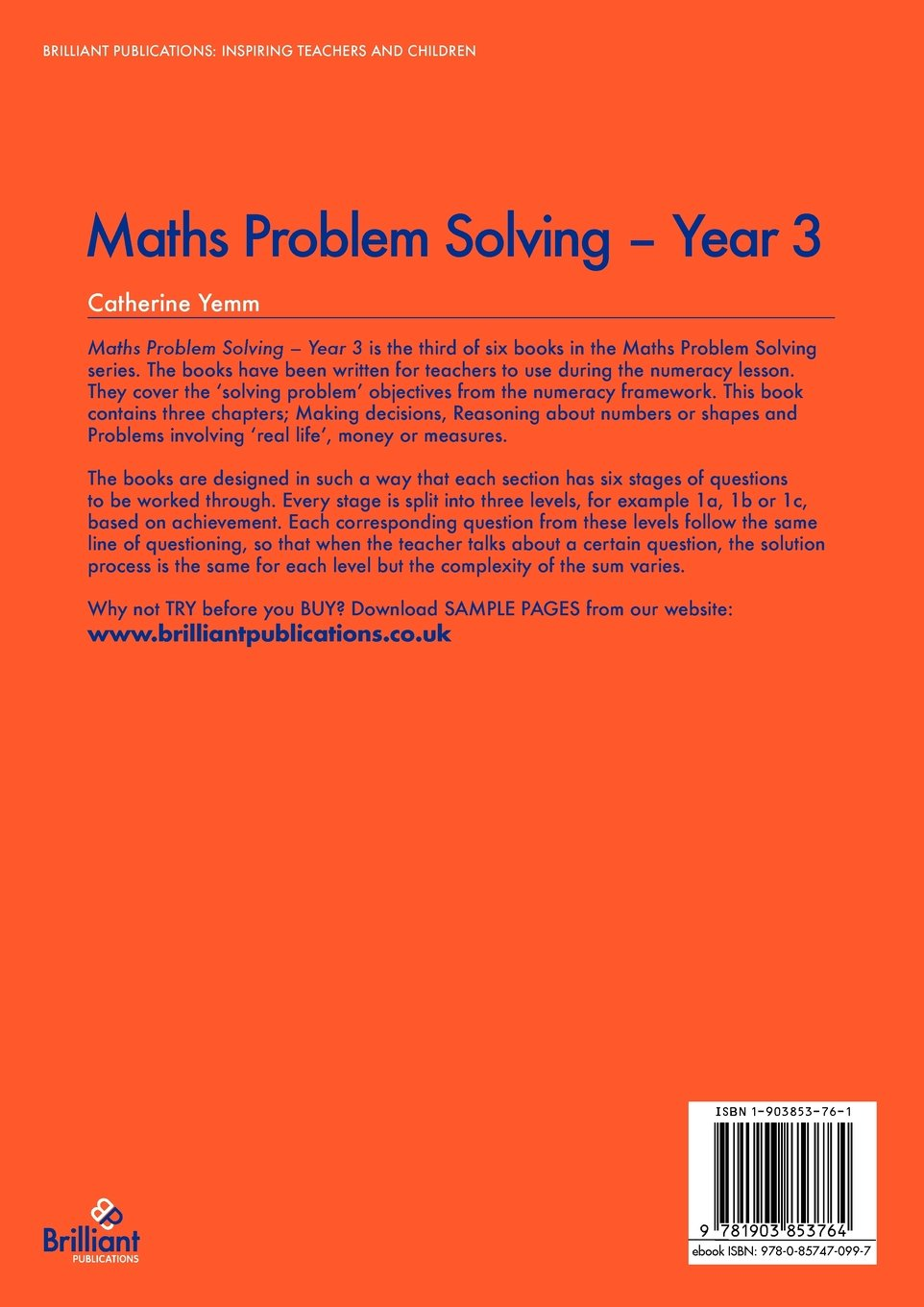maths problem solving year 1 catherine yemm